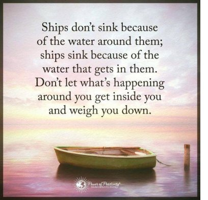 ships don't sink